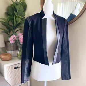Forever 21 Faux Leather Blazer